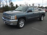 2012 Blue Granite Metallic Chevrolet Silverado 1500 LT Crew Cab #57823417