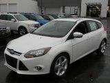2012 White Platinum Tricoat Metallic Ford Focus Titanium 5-Door #57873706