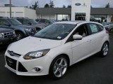 2012 White Platinum Tricoat Metallic Ford Focus Titanium 5-Door #57873702