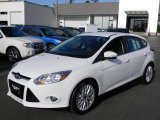 2012 Oxford White Ford Focus SEL 5-Door #57873699