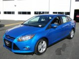 2012 Blue Candy Metallic Ford Focus SE Sport Sedan #57873698