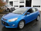 2012 Blue Candy Metallic Ford Focus SE 5-Door #57873695