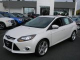 2012 White Platinum Tricoat Metallic Ford Focus Titanium Sedan #57873691