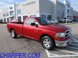 2010 Inferno Red Crystal Pearl Dodge Ram 1500 SLT Regular Cab 4x4 #57873607