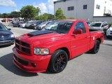 2005 Flame Red Dodge Ram 1500 SRT-10 Regular Cab #57877336