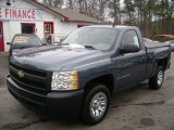 2008 Blue Granite Metallic Chevrolet Silverado 1500 Work Truck Regular Cab #57877077