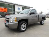 2009 Graystone Metallic Chevrolet Silverado 1500 LS Regular Cab #57875266