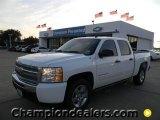 2009 Summit White Chevrolet Silverado 1500 Hybrid Crew Cab #57873141