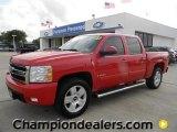 2007 Victory Red Chevrolet Silverado 1500 LT Z71 Crew Cab 4x4 #57873126