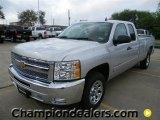 2012 Silver Ice Metallic Chevrolet Silverado 1500 LT Extended Cab #57873117