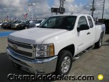 2012 Summit White Chevrolet Silverado 1500 LT Extended Cab #57873112