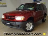 Dark Toreador Red Metallic Ford Explorer in 2000