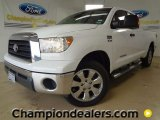 2007 Super White Toyota Tundra Texas Edition Double Cab 4x4 #57874190