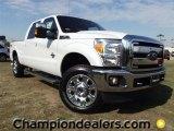 2012 White Platinum Metallic Tri-Coat Ford F250 Super Duty Lariat Crew Cab 4x4 #57874181