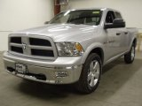 2012 Bright Silver Metallic Dodge Ram 1500 Outdoorsman Quad Cab 4x4 #57876208