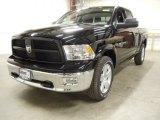 2012 Black Dodge Ram 1500 Outdoorsman Quad Cab 4x4 #57876207