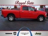 2011 Flame Red Dodge Ram 1500 SLT Quad Cab 4x4 #57876199