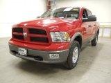 2012 Flame Red Dodge Ram 1500 Outdoorsman Crew Cab 4x4 #57969978