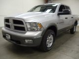 2012 Bright Silver Metallic Dodge Ram 1500 Outdoorsman Crew Cab 4x4 #57969977