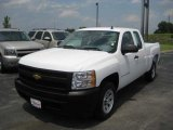 2008 Summit White Chevrolet Silverado 1500 Work Truck Extended Cab #57874074