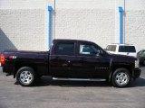 2008 Dark Cherry Metallic Chevrolet Silverado 1500 LTZ Crew Cab 4x4 #57874004