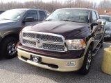 2012 Deep Molten Red Pearl Dodge Ram 1500 Laramie Longhorn Crew Cab 4x4 #57969829