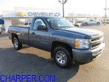 2010 Blue Granite Metallic Chevrolet Silverado 1500 Regular Cab 4x4 #57875914