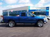 2008 Electric Blue Pearl Dodge Ram 1500 Big Horn Edition Quad Cab 4x4 #57873954