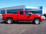 2010 Victory Red Chevrolet Silverado 1500 LT Extended Cab 4x4 #57873942