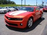 2010 Inferno Orange Metallic Chevrolet Camaro SS/RS Coupe #57873892