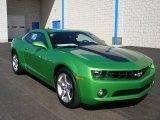 2010 Synergy Green Metallic Chevrolet Camaro LT Coupe #57873884