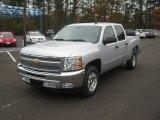2012 Silver Ice Metallic Chevrolet Silverado 1500 LT Crew Cab #57875747