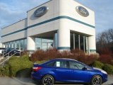 2012 Sonic Blue Metallic Ford Focus SE Sport Sedan #57873817