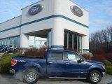 2011 Dark Blue Pearl Metallic Ford F150 Lariat SuperCrew 4x4 #57873811