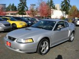 2000 Silver Metallic Ford Mustang V6 Coupe #57873803