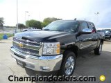 2012 Black Chevrolet Silverado 1500 LT Crew Cab #57873076