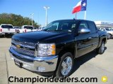 2012 Black Chevrolet Silverado 1500 LT Crew Cab #57873075