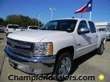 2012 Summit White Chevrolet Silverado 1500 LT Crew Cab #57873074