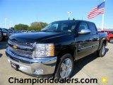 2012 Black Chevrolet Silverado 1500 LT Crew Cab #57873064