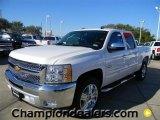 2012 Summit White Chevrolet Silverado 1500 LT Crew Cab #57873063