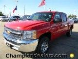 2012 Victory Red Chevrolet Silverado 1500 LT Crew Cab #57873056