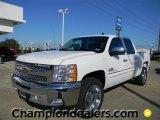 2012 Summit White Chevrolet Silverado 1500 LT Crew Cab #57873054