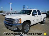 2012 Summit White Chevrolet Silverado 1500 LT Crew Cab #57873053