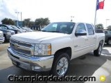 2012 White Diamond Tricoat Chevrolet Silverado 1500 LT Crew Cab #57873047