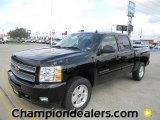 2012 Black Chevrolet Silverado 1500 LT Crew Cab #57873046