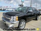2012 Black Chevrolet Silverado 1500 LT Crew Cab #57873042