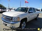 2012 White Diamond Tricoat Chevrolet Silverado 1500 LT Crew Cab #57873040