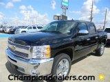 2012 Black Chevrolet Silverado 1500 LT Crew Cab #57873035