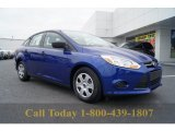 2012 Sonic Blue Metallic Ford Focus S Sedan #57969527