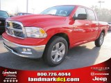 2012 Flame Red Dodge Ram 1500 Big Horn Crew Cab #57969524